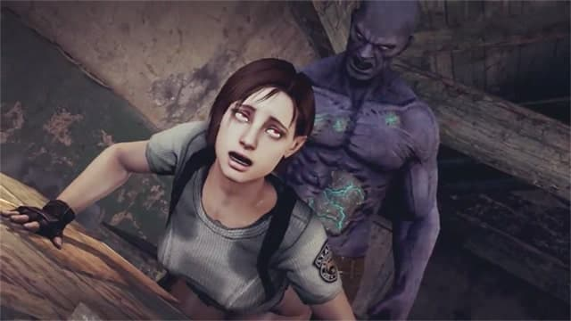 Jill Valentine gets creampied by a monster and then kills him